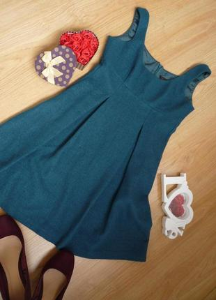 Теплый сарафан / платье / без рукавов / морская волна / miss selfridge