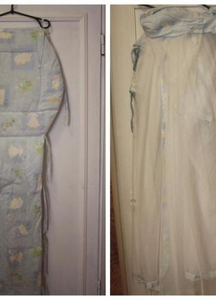 Балдахин бортики защита в детскую кроватку