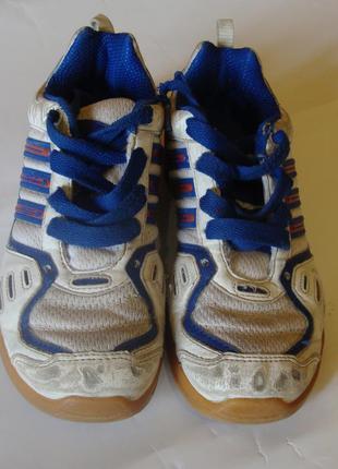 Кроссковки бело-синие кожаные adidas размер 31 стелька 19,5 см