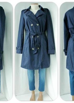 """Стильный,модный тренчкот, плащ """"esmara"""" темно-синего цвета.размер eur 42(l,наш 48-50)."""