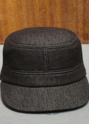 Теплая черная джинсовая кепка-немка dac