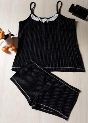 Костюм,комплект для сна и дома, нижнее белье, майка и шорты, трусы,пижама m/l