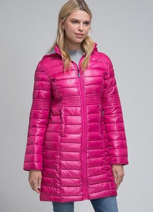 Новое термо пальто geographical norway парка/куртка/пуховик деми/зима 46-48