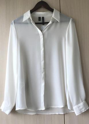 Белая блуза-рубашка mango suit, s, l