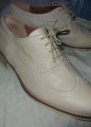 Туфли оксфорды кожа clarks натуральная кожа размер 39 - 40 по стельке 25.5 см