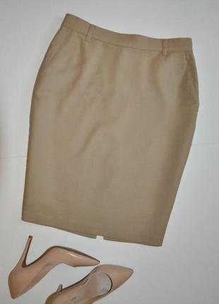Фирменная бежевая юбка