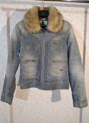 Утепленная куртка со съемной мехом
