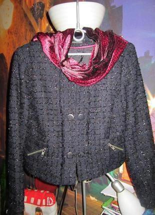 Шикарный вечерний жакет пиджак c люрексом xxl(44)16