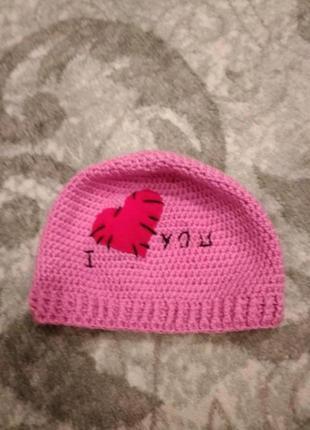 Новая вязаная шапка шапочка