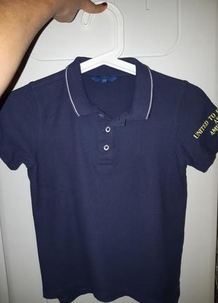 Поло темно-синее мальчику 6-7лет