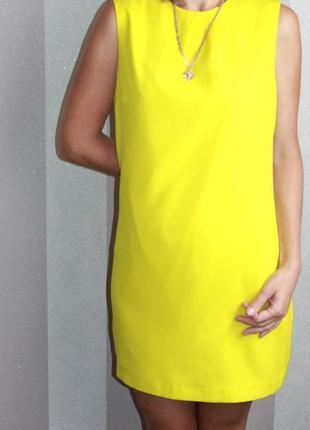 Желтое платье warehouse