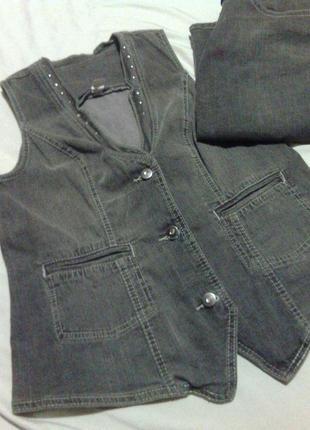 Костюм юбка джинс джинсовый