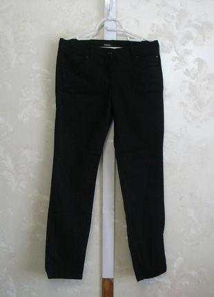 Черные коттоновые брюки джинсы papaya