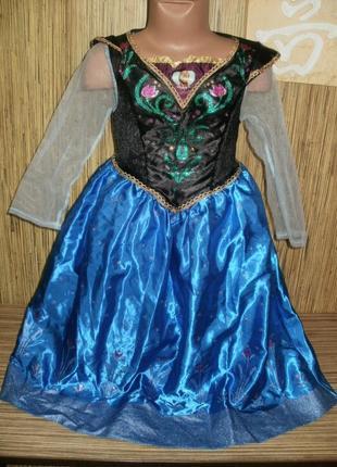 Платье карнавальное принцессы анны на 5-6 лет