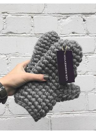 Варежки wool maxi 🌾 объёмные