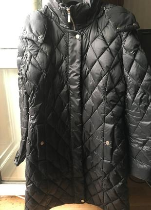 Пуховое фирменное пальто  geox