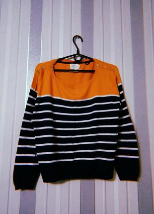 Свитер свитерок в полоску oversize