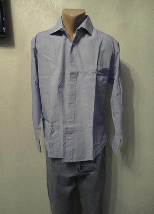 Рубашка голубая, длинный рукав 48 50р
