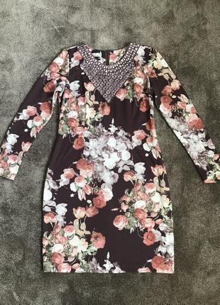 Польское бордовое платье