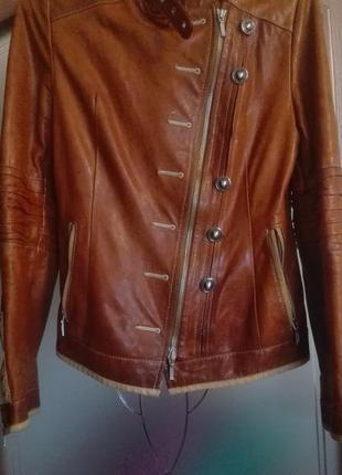 Куртка косуха, кожа, s