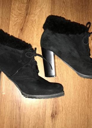 Супер замшевые зимние ботинки натуральные