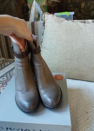 Натуральные демисезонные кожаные полуботинки