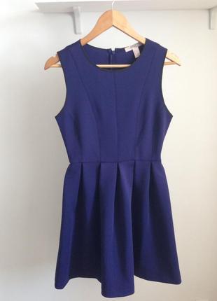 Платье синее спандекс от forever 21