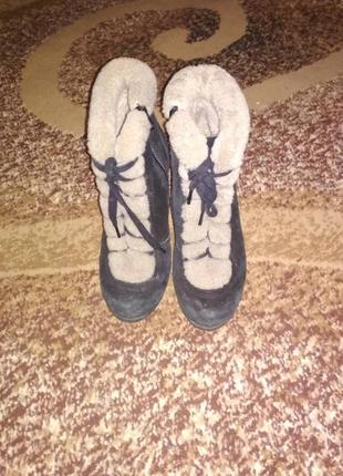 Зимние сапоги с мехом / полусапожки/ ботинки