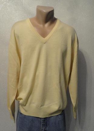 Кофта, свитер, пуловер, реглан хл/ххл желтый