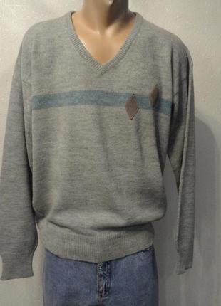 Кофта, свитер, пуловер, реглан 52-54р серый вязаный