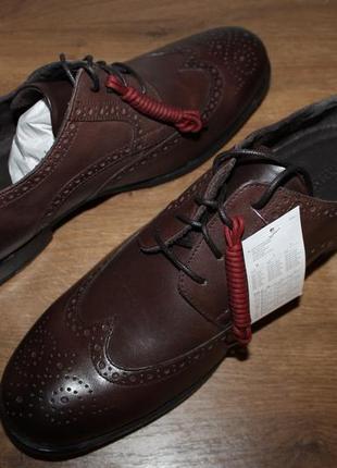 Кожаные туфли с амортизацией rockport castleton wingtip, 46 размер