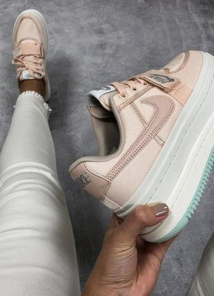 36 37 38 39 40 женские кроссовки nike vandal 2k pink white высокие на платформе