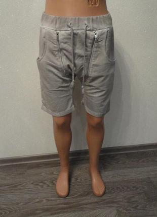 Короткие шорты бойфренды с потертостями, унисекс, свободные