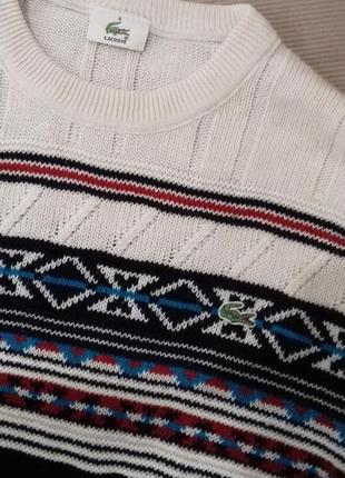 Теплый свитер джемпер кофта оверсайз от lacoste