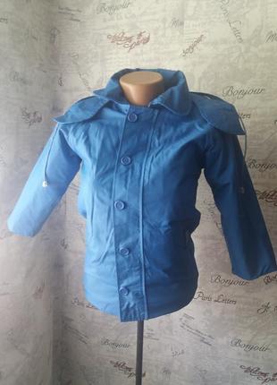 Термо курточка синяя на осень 122 рост