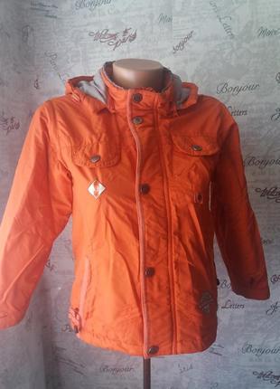 Оранжевая курточка на осень 122 рост