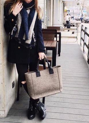 Vabi (woolberry bags) сумка шоппер из натурального войлока