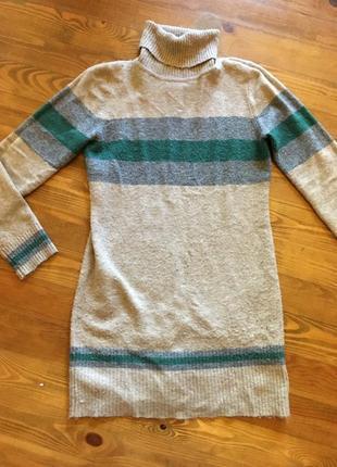 Тёплое кашемировое платье туника кашемир свитер платье-гольф