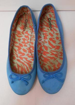 Балетки голубого цвета туфельки с круглым носком туфли мули мюли светло синие