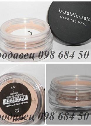 Прозрачная минеральная пудра закрепляющая макияж bareminerals