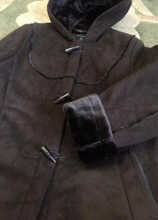 Шуба дубленка пальто куртка i madison шоколадная
