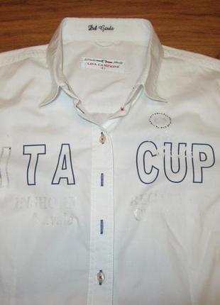 Новая коттоновая рубашка lisa campione5