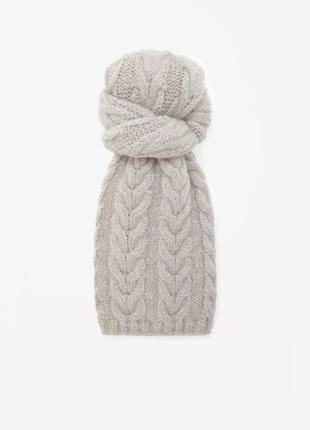 Тёплый шарф бренда cos