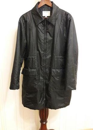 Демисезонная куртка пальто на синтепоне большой размер унисекс