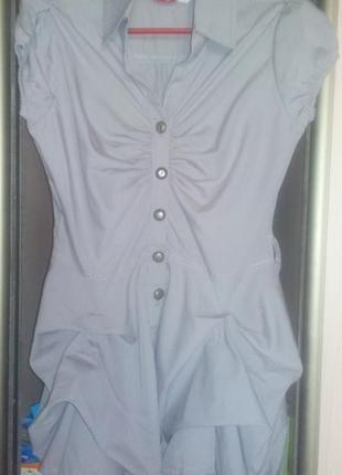 Платье-туника с оригинальной юбкой