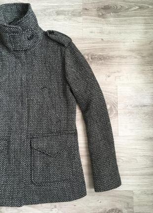 Пальто шерстяное gap s-xs