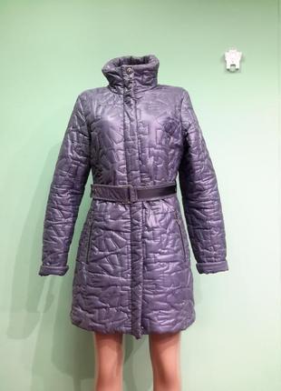 Стеганое  утепленное  пальто/плащ