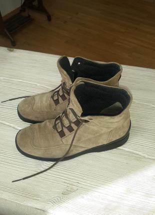 Ботинки из натурального замша 37 р./ 24 см.