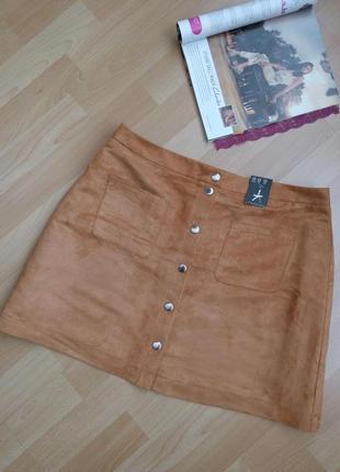 Новая, брендовая юбка под замш р.46-48