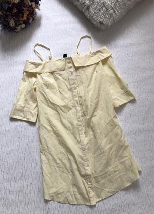 Стильное платье на лето с открытыми плечами